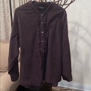Lands' End brown corduroy blouse. 3X